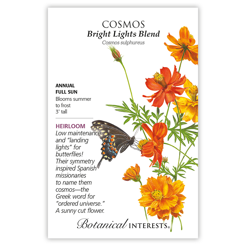 Flower seeds are a great gift idea for garden lovers, like these cosmos seeds