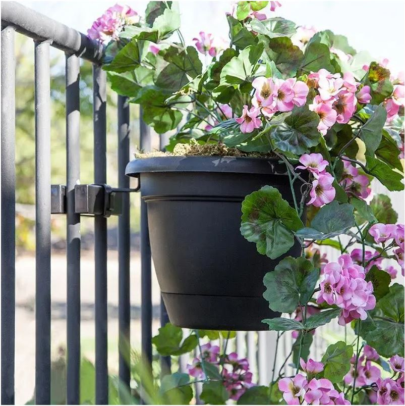 Flowerpot holder for railings - a great gift idea for a flower lover who has a small space for gardening, like an apartment balcony or deck