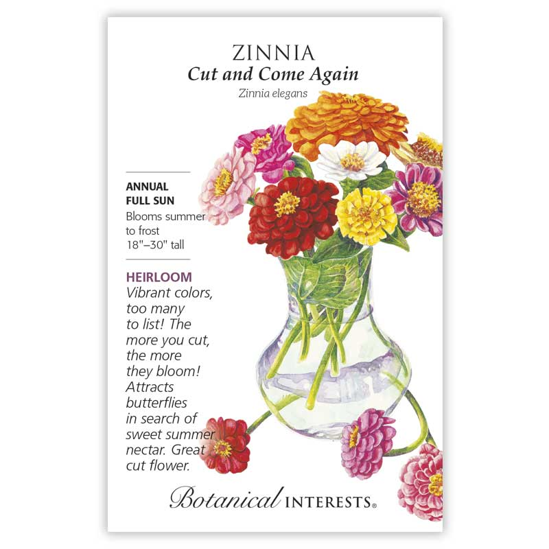 Zinnia seeds make a great gift for gardeners in Colorado & the West because these flowers are heat-tolerant
