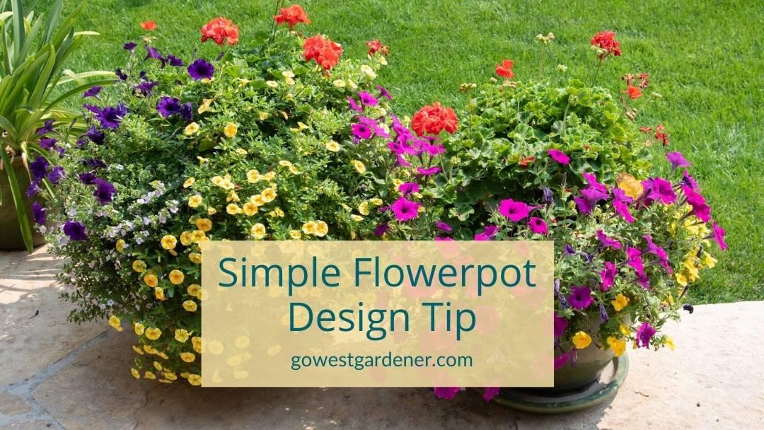 A simple flowerpot design tip to make your flowerpots look pretty