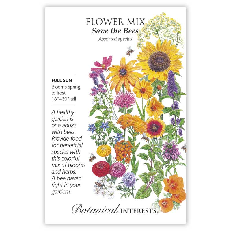 Save the Bees Flower Mix from Botanical Interests