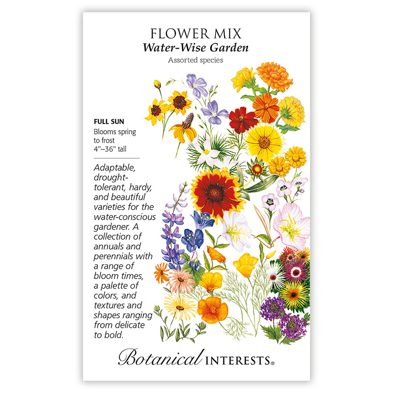 Water-Wise Flower Garden Seed Mix from Botanical Interests